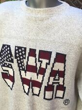 Southwest Airlines SWA Spellout Stars Stripe Mens XL Sweater Made In USA