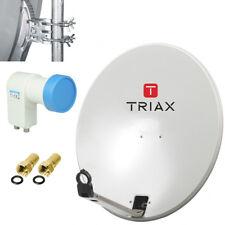 Triax TD 64 cm + Twin LNB espejo sat Schüssel HDTV HD klapparm camping Mobile