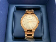 SWAROVSKI CRYSTAL ROSE GOLD STEEL CITY WOMENS WATCH 5181642 NEW