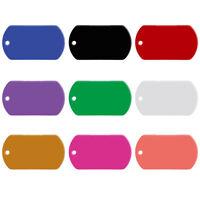100pcs/lot Aluminum Custom Military Dog Tags Disc Disk Personalised Name ID Tags