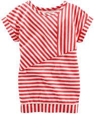 OshKosh B'gosh Girl's Banded Striped Tunic Top; Red/White (4T))