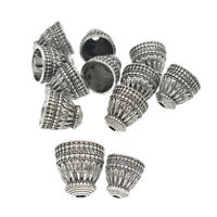 10 Pcs Antique Silver Tassels Cap Beads Pagoda Findings For DIY Jewelry Marking