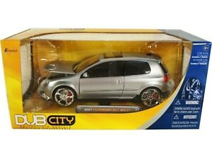 WOW EXTREMELY RARE Volkswagen Golf Mk.5 GTi Tuning 2007 Silver 1:24 Jada