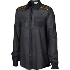 Super Brand General Cotton Shirt Womens sz Large Fashion Designer Military Style