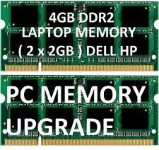 4gb = 2gb x 2 LAPTOP MEMORY RAM DDR2 notebook Dell HP DV6000 DV9000 - Samsung