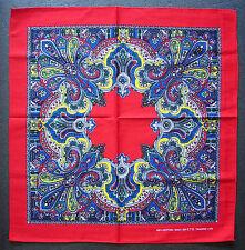 Paisley estilo Pañuelo Cabeza Bufanda Pañuelo Rojo Multicolores Diseño Regalo