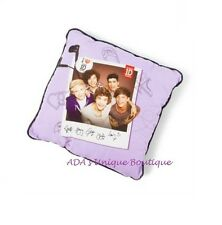 1D One Direction Group Shot Photo Purple Decorative Pillow Officially Licensed