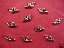 Plata Tibetana Caracol Beads - 10 por paquete