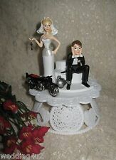 Wedding Party Reception ~Motorcycle Biker~ Hog Cake Topper Ball & Chain