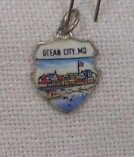 Vintage REU Sterling/Enamel Ocean City, Maryland Waterfront Beach Bracelet Charm