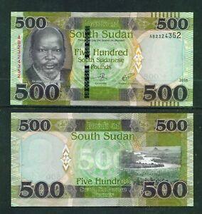 SOUTH SUDAN - 2018 500 Pounds UNC Banknote