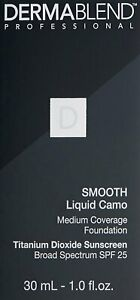 Dermablend Smooth Liquid Camo Foundation | CHOOSE YOUR SHADE | NEW AUTHENTIC