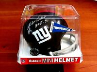 YA TITTLE NEW YORK GIANTS HOF QB SIGNED AUTO MINI TWO BAR HELMET JSA AUTHENTIC