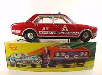 Paya ref 8582 Fiat Seat 132 Bomberos JEFE #4 tôle electrico battery toy boite