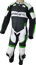 Tuta In Pelle, Completo Da Moto, Abbigliamento Moto Speed Devil Verde Hornet M