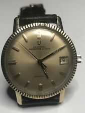 Vintage Universal Geneve Polerouter Watch 14k Solid Gold Wristwatch Automatic SS