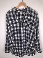 Gap Women's L Large Plaid Flannel Shirt (J1)
