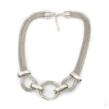 Jewelry Punk Silver Chain Pendant Necklace Choker Chunky Bib Statement