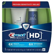 Crest Pro-Health HD Daily Two-Step Toothpaste System 4.0 Oz and 2.3 Oz Tubes