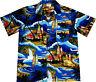 "Camisa Hawaiana ""Tiempo de Playa"" / 100% algodón / S - 6XL / azul / Hawaiiana"