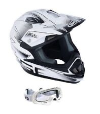 Motocross Quad Pit Bike GSB XP-14B Adulto Racing Acu MX Casco Blanco Y Gafas