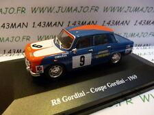 Voiture 1/43 Eligor/ UH Hachettes : RENAULT sport : R 8 gordini coupe Gordini 69