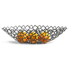 CRESCENT Brushed Metal Mesh Fruit / Bread Decorative Bowl by Philippi Germany