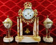 French Antique Bronze Clocks