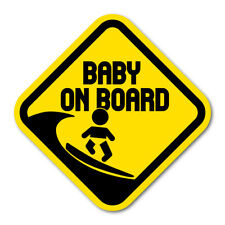 Surfing Baby On Board Sticker Surfing Baby On Board