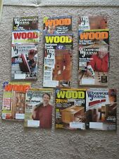 Woodworker's Journal and Wood Magazine Lot Of 13 {2007}