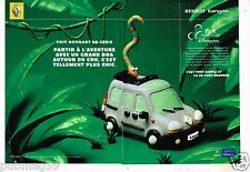 Publicité Advertising 2000 (2 pages) Renault Kangoo Pack aventure Disneyland