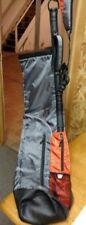 Wellzher Golf Distinctive Sunday Bag Orange And Gray
