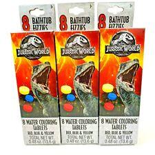 BathTub Water Color Tablets Fizzies Jurassic World Dinosaurs 3 pks Easter Basket