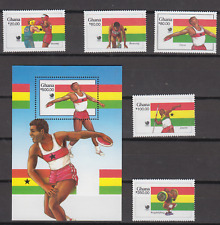 GHANA 1988 OLYMPIC GAMES SET & MINATURE SHEET MINT NEVER HINGED