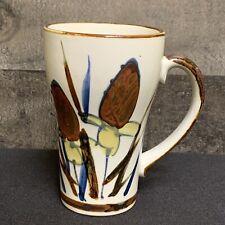 Vintage Floral Speckled  Stoneware Coffee Tea Mug