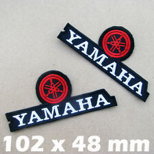 2 Patches x YAMAHA Embroidered Iron On Patch MotoGP Motorcycle Motocross Racing