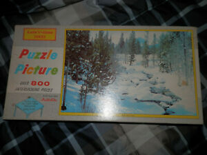 Built Rite Leis'r Time Series Picture Puzzle Over 800 Pieces Red Fish Creek