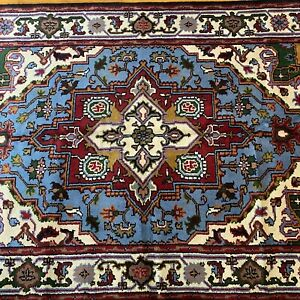 Brand New Handmade in India Tribal & Geometric Oriental Rug,Thick Soft Pile, 5x8