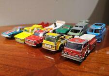 Vintage Metal Lot (10) CORGI LESNEY MATCHBOX HOT WHEELS Cars Truck Die Cast