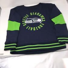 NFL Seattle Seahawks Performance Blue Sweatshirt Boys Medium