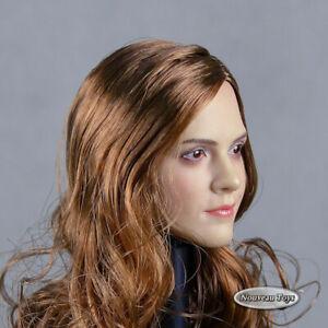 1/6 Phicen, TBLeague, MA - Female Head Sculpt Emma Watson w/ Rooted Brown Hair