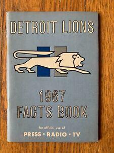Vintage 1967 DETROIT LIONS Football Program Press Radio Book