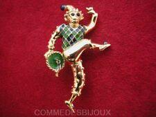 """Broche """"Arlequin"""" N° 2 Venise Jacquard Vert - Bijoux Cadeau Collection"""