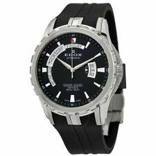 Edox Men's 83006 3CA NIN Grand Ocean Automatic Watch w/ Black Rubber Band