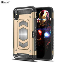 For iPhone XR Case XS Max 7 8+ 6 Hybrid Heavy Duty Card Slot Rugged Back Cover