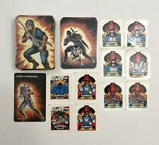 New listing Lot Of 89 1986 G.I. Joe Action Trading Cards & 10 Stickers 3 Snake Eyes Cards Nm