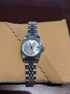 Rolex Disney Mickey Mouse Silver Dial Band Analog Limited 2000 Vintage JP