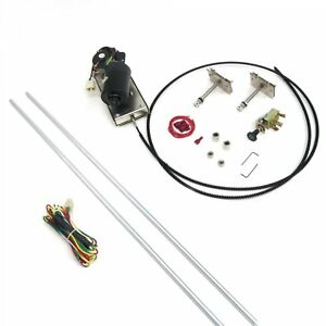 Heavy Duty Power Windshield Wiper Kit with Switch and Harness Name Brand Autoloc