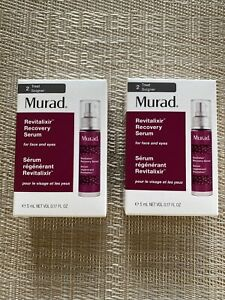 MURAD®  Revitalixir™ Recovery Serum For Face And Eyes 2x 5ml Mini Size Value £38