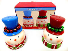 Snowman Magic with Jingle Bells Salt & Pepper Shakers Cracker Barrel New in Box
